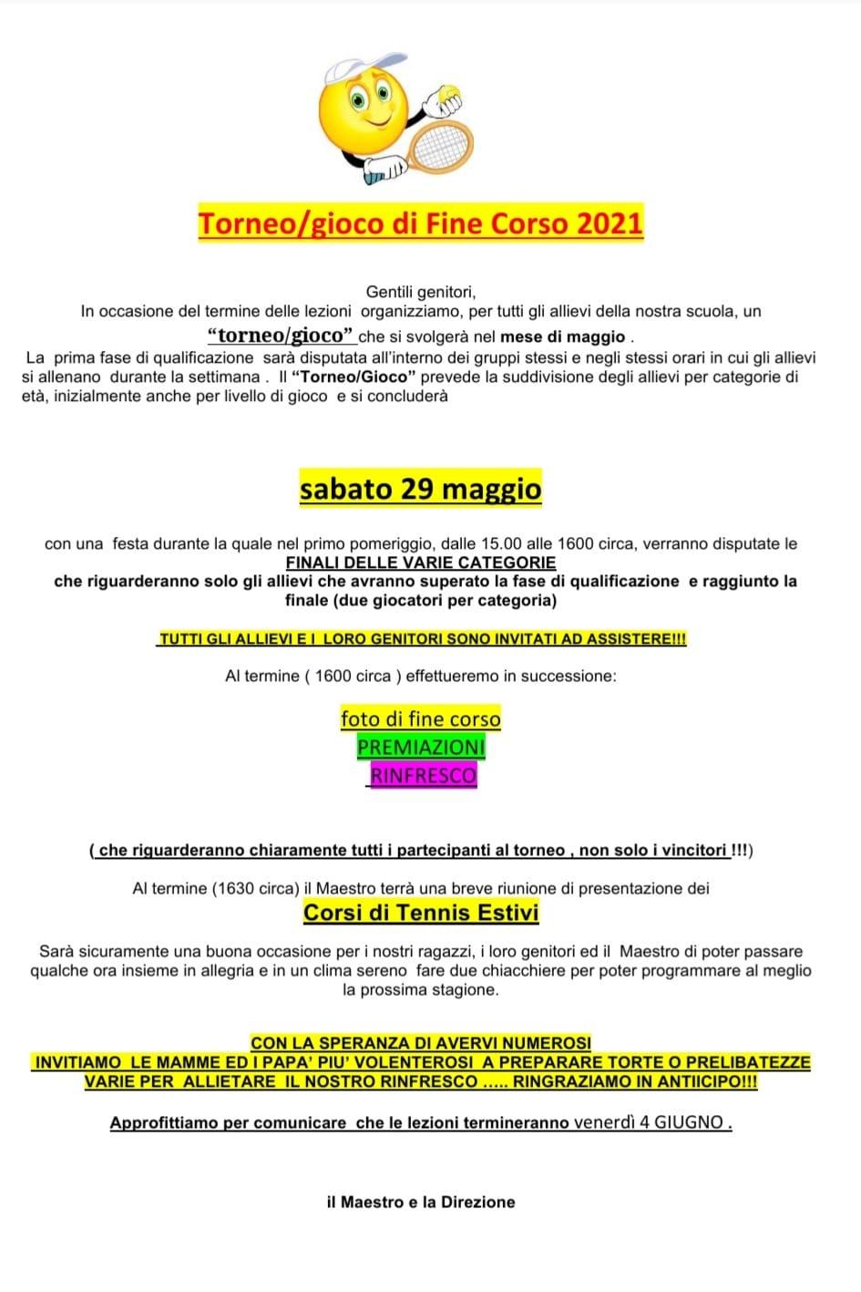 TORNEO DI FINE CORSO SAT